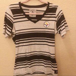 Pittsburg Steelers Antiqua tee size Medium striped